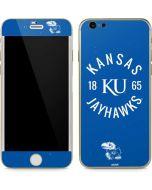 Kansas Jayhawks KY 1865 iPhone 6/6s Skin