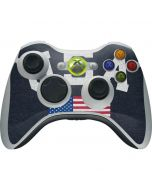 USA with American Flag Xbox 360 Wireless Controller Skin