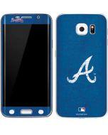 Atlanta Braves - Solid Distressed Galaxy S6 Edge Skin
