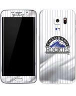 Colorado Rockies Home Jersey Galaxy S6 Edge Skin