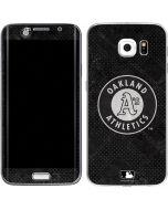 Oakland Athletics Dark Wash Galaxy S6 Edge Skin