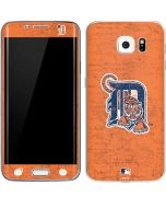 Detroit Tigers- Alternate Solid Distressed Galaxy S6 Edge Skin