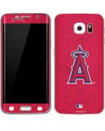 Los Angeles Angels - Solid Distressed Galaxy S6 Edge Skin