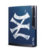 New York Yankees - Solid Distressed Playstation 3 & PS3 Slim Skin