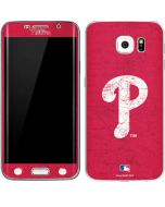 Philadelphia Phillies - Solid Distressed Galaxy S6 Edge Skin