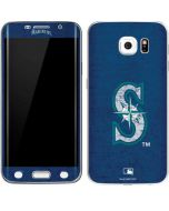 Seattle Mariners - Solid Distressed Galaxy S6 Edge Skin