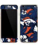 Denver Broncos Tropical Print iPhone 6/6s Skin