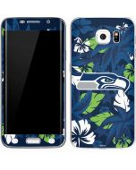 Seattle Seahawks Tropical Print Galaxy S6 Edge Skin
