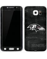Baltimore Ravens Black & White Galaxy S6 Edge Skin