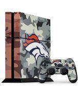Denver Broncos Camo PS4 Console and Controller Bundle Skin