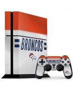 Denver Broncos White Striped PS4 Console and Controller Bundle Skin