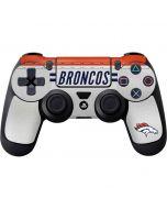 Denver Broncos White Striped PS4 Controller Skin