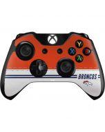 Denver Broncos White Striped Xbox One Controller Skin