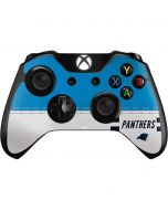 Carolina Panthers White Striped Xbox One Controller Skin