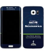 Seattle Seahawks Super Bowl XLVIII Galaxy S6 Edge Skin
