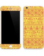 Tribal Elephant Yellow iPhone 6/6s Plus Skin