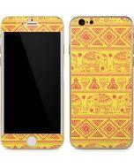 Tribal Elephant Yellow iPhone 6/6s Skin