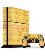 Tribal Elephant Yellow PS4 Console and Controller Bundle Skin