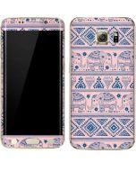 Tribal Elephant Pink Galaxy S7 Edge Skin