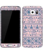 Tribal Elephant Pink Galaxy S6 Skin