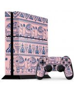 Tribal Elephant Pink PS4 Console and Controller Bundle Skin