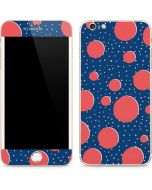 Coral Polka Dots iPhone 6/6s Plus Skin
