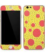 Spring Yellow Polka Dots iPhone 6/6s Skin