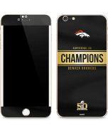 Denver Broncos Super Bowl 50 Champions Black iPhone 6/6s Plus Skin