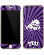 TCU Horned Frogs Mascot Swirl iPhone 6/6s Skin