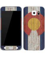 Colorado Flag Dark Wood Galaxy S7 Skin
