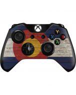 Colorado Flag Dark Wood Xbox One Controller Skin