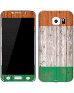Ireland Flag Dark Wood Galaxy S7 Skin