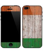 Ireland Flag Dark Wood iPhone 5/5s/SE Skin