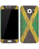 Jamaican Flag Dark Wood Galaxy S7 Skin