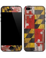Maryland Flag Dark Wood iPhone 5/5s/SE Skin