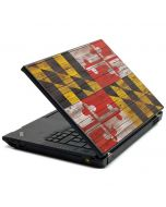 Maryland Flag Dark Wood Lenovo T420 Skin