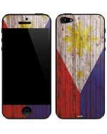 Philippines Flag Dark Wood iPhone 5/5s/SE Skin