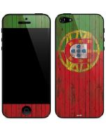 Portuguese Flag Dark Wood iPhone 5/5s/SE Skin