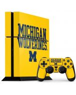 Michigan Wolverines PS4 Console and Controller Bundle Skin