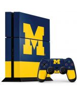University of Michigan Logo PS4 Console and Controller Bundle Skin
