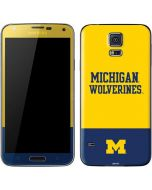 Michigan Wolverines Split Galaxy S5 Skin