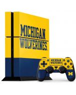 Michigan Wolverines Split PS4 Console and Controller Bundle Skin