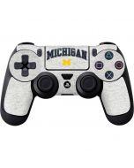University of Michigan Heather Grey PS4 Controller Skin