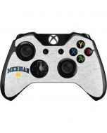University of Michigan Heather Grey Xbox One Controller Skin