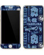 North Carolina Tar Heels Print iPhone 6/6s Skin
