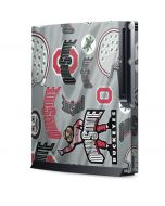 Ohio State Pattern Playstation 3 & PS3 Slim Skin