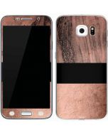 Rose Gold and Black Marble Galaxy S6 Skin