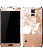 White Rose Gold Marble Galaxy S5 Skin