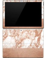 White Rose Gold Marble Surface Pro 4 Skin