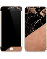 Black and Rose Gold Marble Split iPhone 6/6s Plus Skin